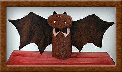 Belfry the Bat-bat, Belfry bat, felt, primitive