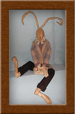 Buster Bunny-bunny, Buster, primitive, muslin, rabbit