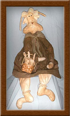Cordelia Hopps-rabbit, bunny, Cordelia Hopps, warm and natural, primitive, homespun,
