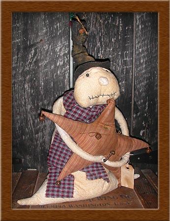 "Dewey ""T""-distressed, warm and natural, wool, Dewey T, freezer, winter, primitive"