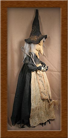 The Eleventh Hour-witch, eleventh hour, pattern, primitive, sleepy, Benita