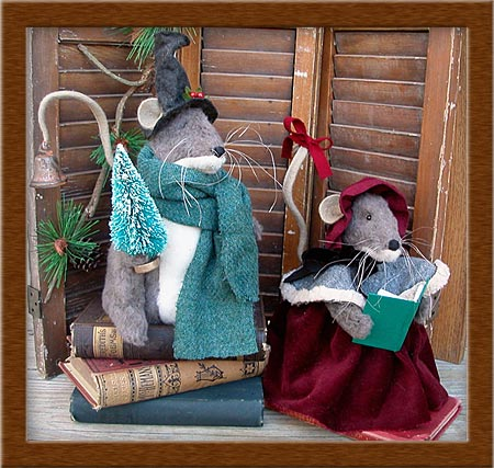 The Micely's-mice, brush felt, The Micely's, holiday