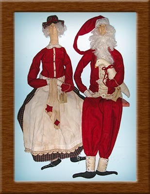 Mister and Missus-better half, Santa, Christmas goose, Mister and Missus, wool, primitive