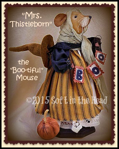 Mrs. Thistleborn Mouse Witch-mouse, Halloween, witch