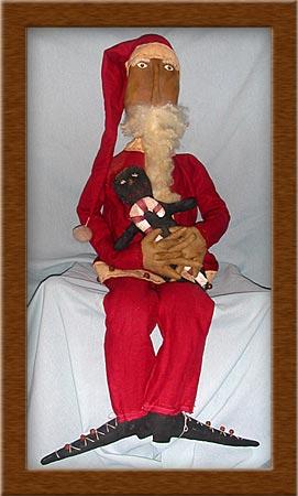 Nickolaus-Santa, old world, primitive, Nickolaus, Vermont wool, holidays