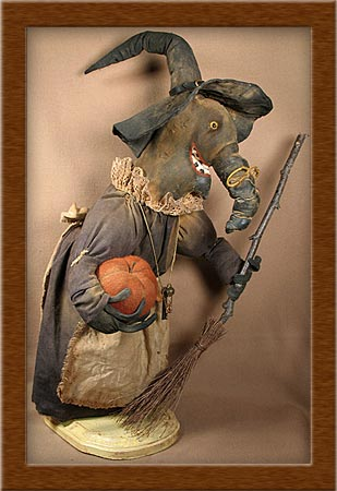 Olde Crow/Crone-crow, witch, primitive, distressed, Olde Crow,
