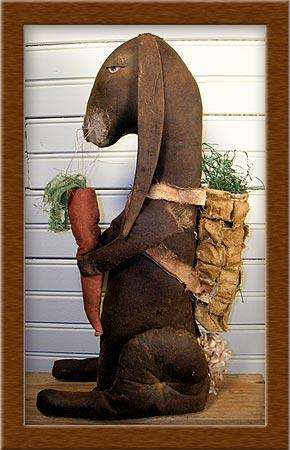 Zeb the Pack Rabbit-rabbit, bunny, pack rabbit, Zeb, primitive, muslin, pack