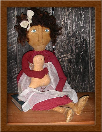 Patsy Dew-chicklet, distressed, osnaburg, primitive, Patsy Dew, wool felt