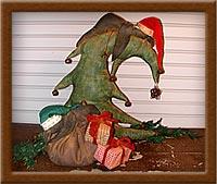 Silent Night-crow, tree, Silent Night, Christmas, sleeping, painted, muslin,