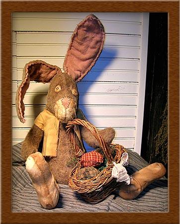 Socks-bunny, rabbit, much loved, primitive, Socks, tattered