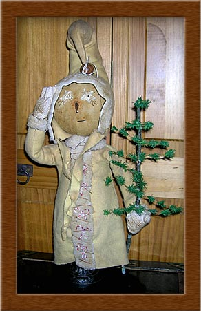Stormin' Norman-snowman, make-do, wool, waxed muslin, Stormin' Norman,