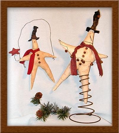 Twinkles-star, twinkle, painted muslin, wool, Twinkles, primitives, Christmas,