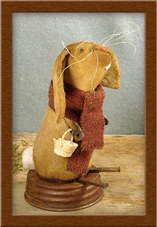 Waldorf Bunny-bunny, Waldorf, rabbit, primitive, muslin, jar lid