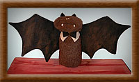 Belfry the Bat-bat, Belfry bat, felt, primitive