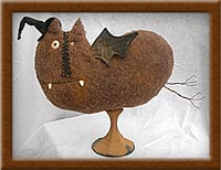 Bubba Bat-bat, primitive, felt, Bubba Bat