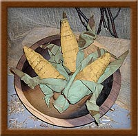 Harvest Corn-corn, harvest, primitive, corn-cobs, bowl-fillers