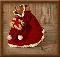 Miss Holly Mouse-mouse, Christmas, holly, Miss Holly, muslin,