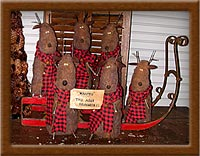 Flyers 4 Hire-reindeer, wool, felt, Flyers 4 Hire, Christmas, sleigh, primitive,
