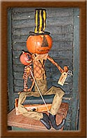 Julius Bump-pumpkin head, pumpkin, Julius, Bump, primitive, muslin,