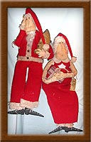 Ma and Pa Claus-Santa, Mrs. Claus, primitive, Christmas, holiday, spirit, Ma and Pa Claus, Vermont wool