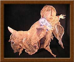 Marley-ghost, Marley, Halloween, distressed, muslin, primitive