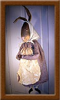 Miss Bonny Bonet-bunny, Bonny Bonet, primitive, muslin, rabbit