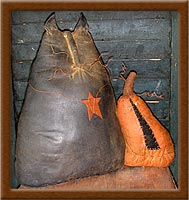 Mulrooney and Ira-cat, pumpkin, Mulrooney and Ira, primitive,