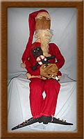 Nickolaus-Santa, old world, primitive, Nickolaus, Vermont wool, holidays