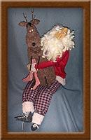Quality Time-Santa, reindeer, Quality Time, St. Nick, Morty, primitive, Christmas