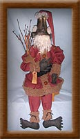 Simon Cobb-painted, distressed, muslin, Santa, Simon Cobb, Vermont sheep, flannel, primitive