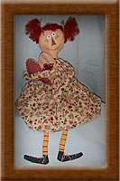 Sweet Annie-sweet, annie, raggedy, doll, painted muslin, wool hair