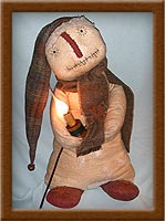 Tinker Snowman-snowman, Tinker, warm and natural, candle, wool, primitive