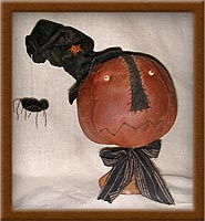 Toady-toady, pumpkin head, pumpkin, make-do, muslin, candlestick, primitives