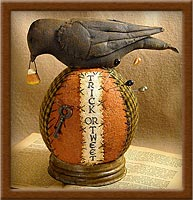 Trick or Tweet Pin-Keep-pin-keep, blackbird, pin cushion, Halloween, Trick or Tweet,